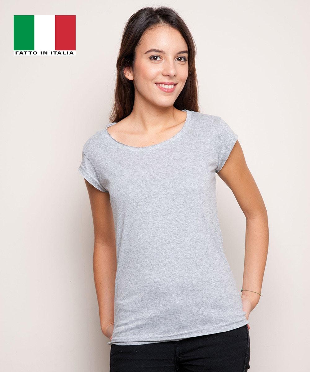 Shirt Donna Maglietta T Baretz Taglio Finiture Vivo TuK1clFJ3