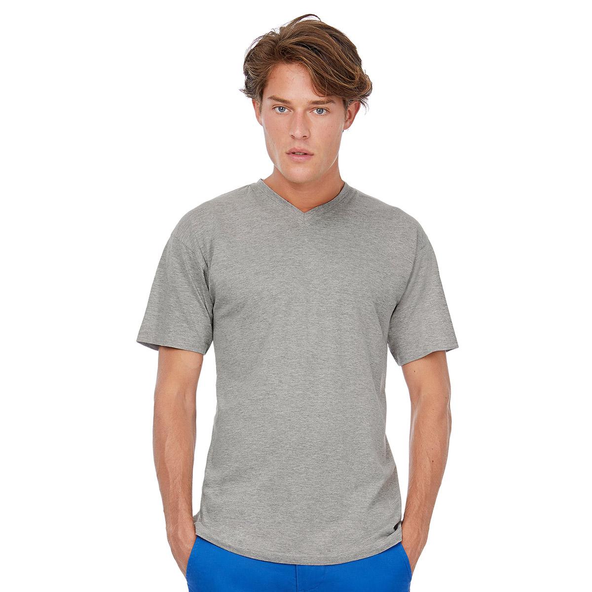 Maglietta T-shirt Exact V-Neck manica corta collo a v.