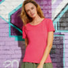 T-shirt in cotone ring-spun cotone organico donna baretz