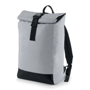 REFLECTIVE ROLL-TOP BACKPACK-BARETZ-
