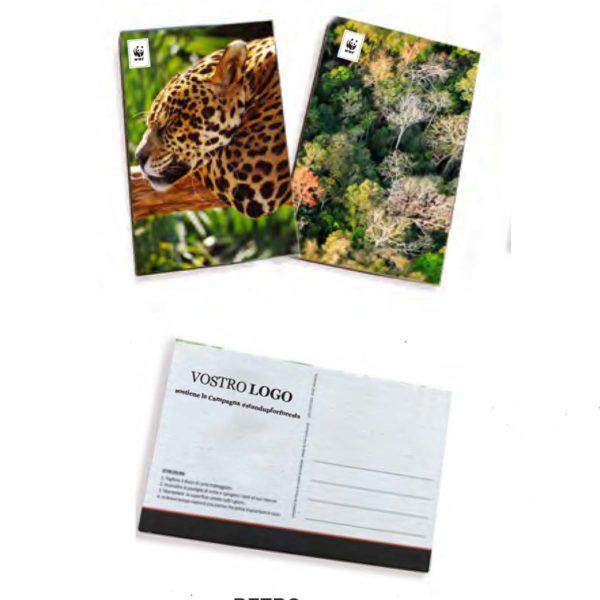 Cartolina con semi da piantare Wwf