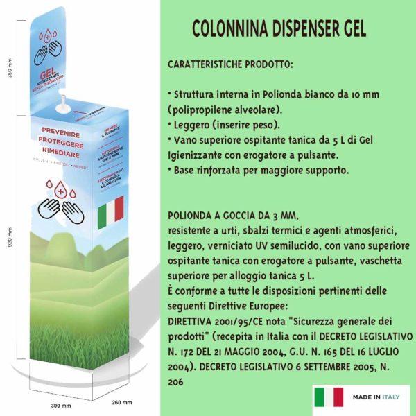 Colonnina dispenser gel
